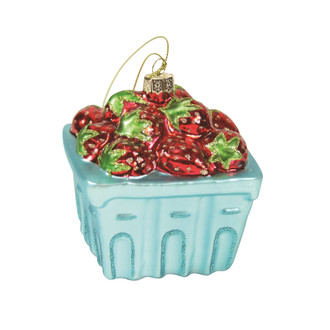 Holiday Ornament Strawberry Basket