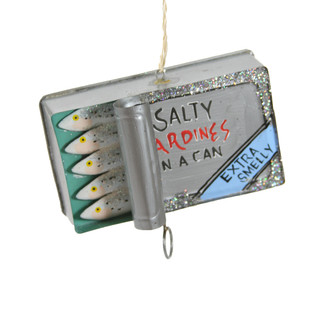 Holiday Ornament Sardine Tin
