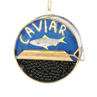 Holiday Ornament Caviar Tin