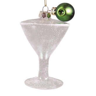 Holiday Ornament Martini Glass