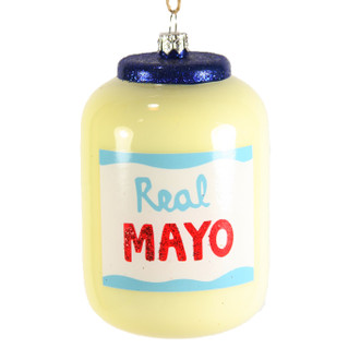 Holiday Ornament Mayo Jar