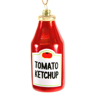 Holiday Ornament Ketchup Bottle