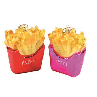 Holiday Ornament French Fries Set/2