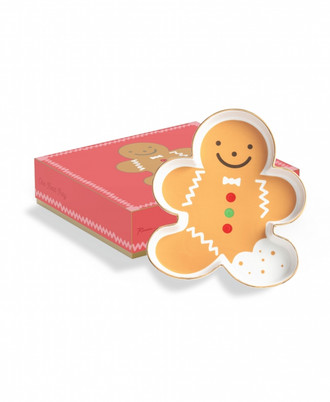 Porcelain Treat Tray Gingerbread Man