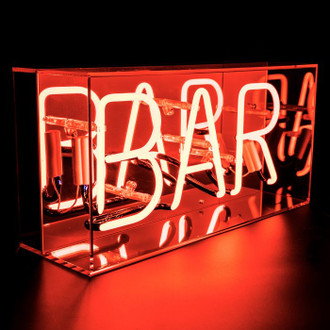 Neon Light Box Bar