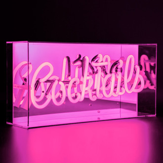 Neon Light Box Cocktails Pink