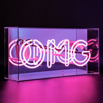 Neon Light Box OMG