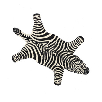 Animal Print Accent Rug - Zebra, Small