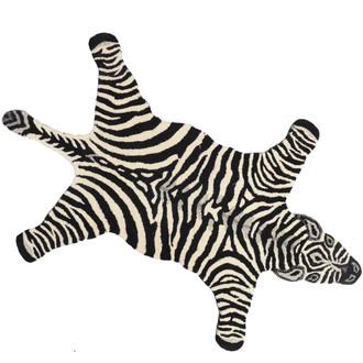 Animal Print Accent Rug - Zebra, Large