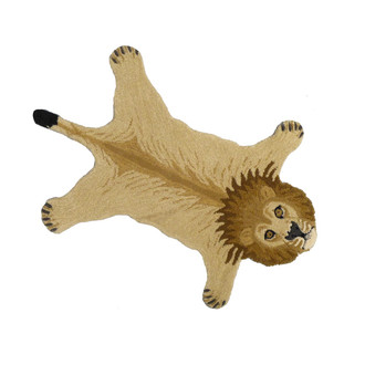 Animal Print Accent Rug - Lion, Small