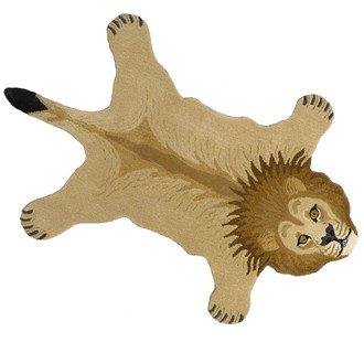 Animal Print Accent Rug - Lion, Large