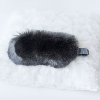 Faux Fur Sleep Mask, Grey Was $85 Now $42.50