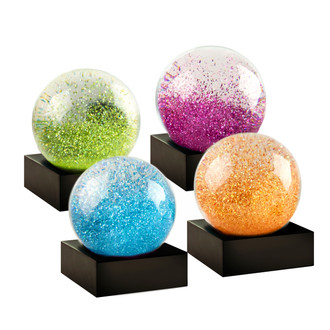 Mini Snow Globes Jewel Tones Set of 4