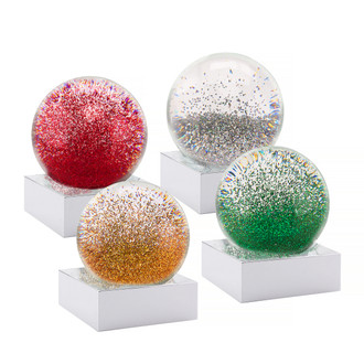 Mini Snow Globes Holiday Set of 4