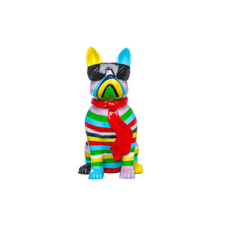 French Bulldog Sculpture with Black Sunglasses