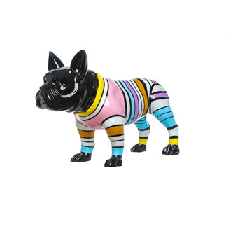 Bulldog Sculpture Multi Stripe
