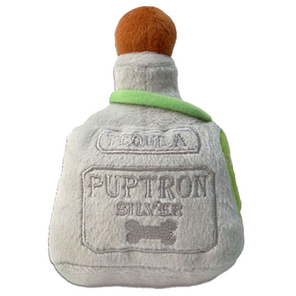 Puptron Silver Tequila Plush Dog Toy