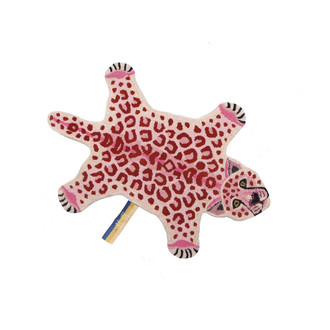 Animal Print Accent Rug - Pinky Leopard Small