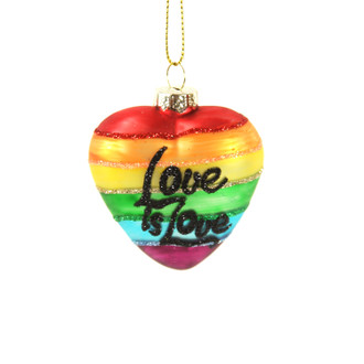 Holiday Ornament Heart Love Is Love
