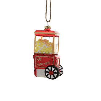 Holiday Ornament Popcorn Machine