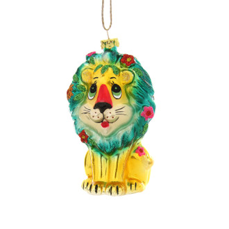 Holiday Ornament Retro Lion