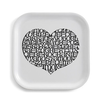 Alexander Girard Tray International Love Heart