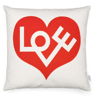Alexander Girard Pillow Love Heart Graphic Print