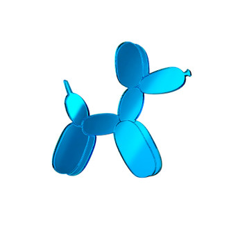 Pop Art Pin Balloon Dog Blue