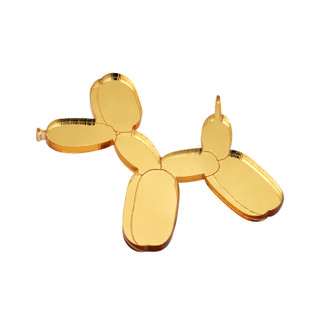 Pop Art Pin Balloon Dog Gold