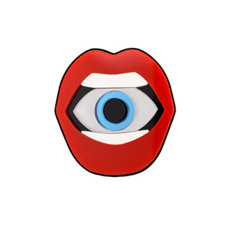Pop Art Pin Eye in Mouth