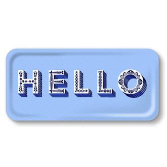 Tray Hello Blue