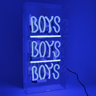 Neon Light Box Boys, Boys, Boys