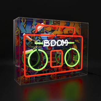 Neon Light Box Boombox