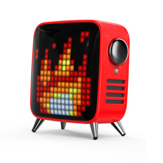 Tivoo-Max Pixel Art Speaker, Red