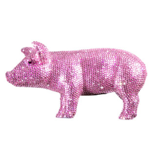 Crystal Piggy Bank, Pink