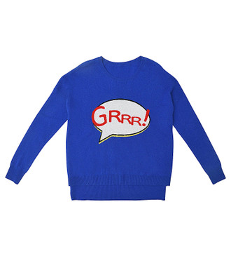 Sweater Cashmere GRRR!, Blue