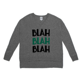 Sweater Cashmere BLAH BLAH BLAH, Grey