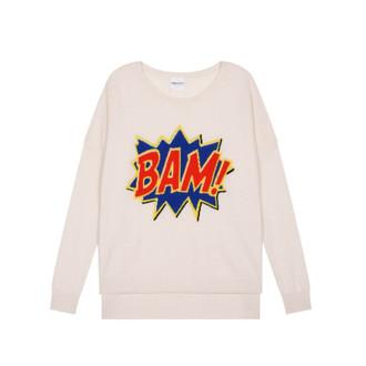 Sweater Cashmere BAM!, White