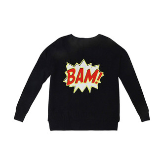 Sweater Cashmere BAM!, Black