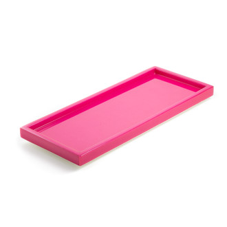 Lacquer Tray Rectangle Hot Pink