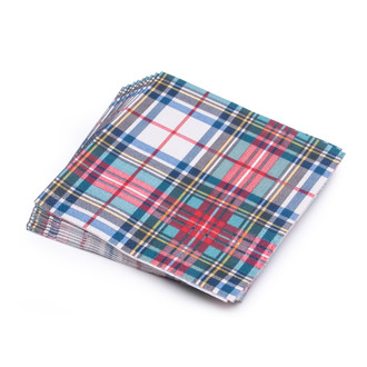 Paper Cocktail Napkins Boxed,  Stewart Tartan