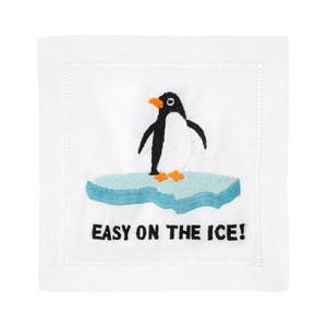 Cocktail Napkins 'Easy On The Ice!'