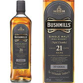 Bushmills Malt 21 Year Old Irish Whiskey 750ml