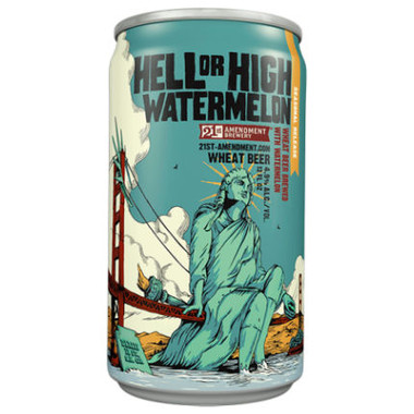 21st Amendment Hell or High Watermelon Wheat Beer 12oz 6 Pack Cans