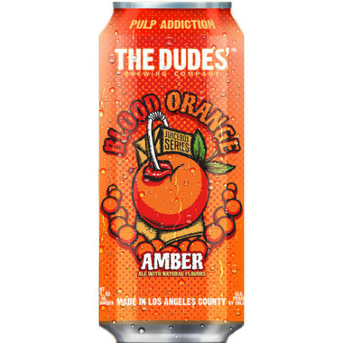 The Dudes Juicebox Series Blood Orange Amber 16oz 4 Pack Cans