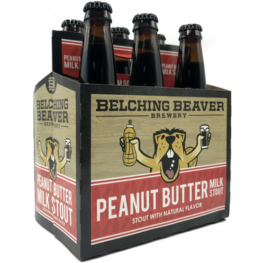 Belching Beaver Peanut Butter Flavored Milk Stout 12oz 6 Pack