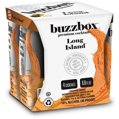 Buzzbox Long Island Cocktails 200ml 4 Pack