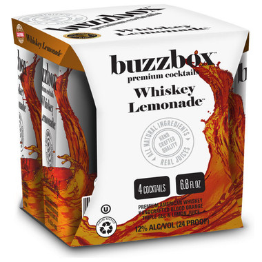 Buzzbox Whiskey Lemonade Cocktails 200ml 4 Pack
