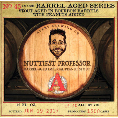 Avery The Nuttiest Professor Bourbon Barrel Aged Peanut Stout 12oz