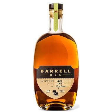 Barrell Rye Batch 01 4 Year Old Cask Strength Rye Whiskey 750ml